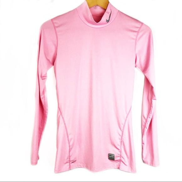 4e6e1a8d Nike Dri Fit Pro Mock Turtleneck Pullover L 12-14.  M_5b819cb8dcf8552e17913673